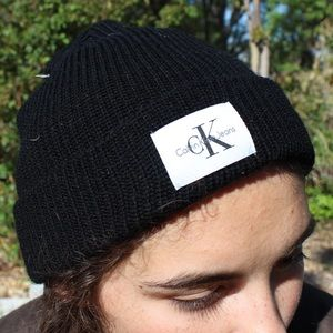 New DEADSTOCK Black Calvin Klein Beanie 🖤